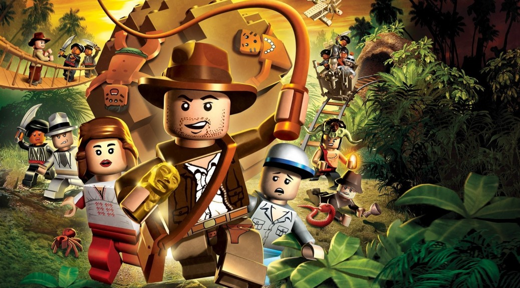 Cover artwork for Lego Indiana Jones video game.