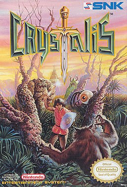 The box art for the NES game, Crystalis