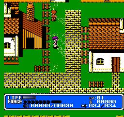 An in-game screenshot of Crystalis.
